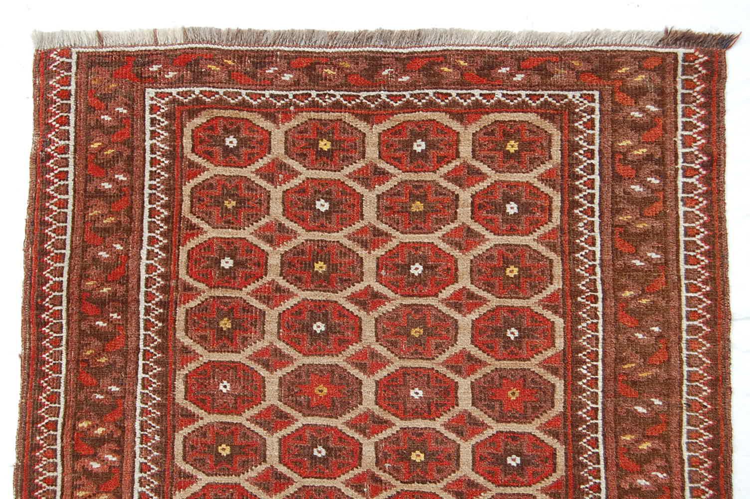 antik afghanistan ersari teppich 99x69cm rarit t ebay. Black Bedroom Furniture Sets. Home Design Ideas