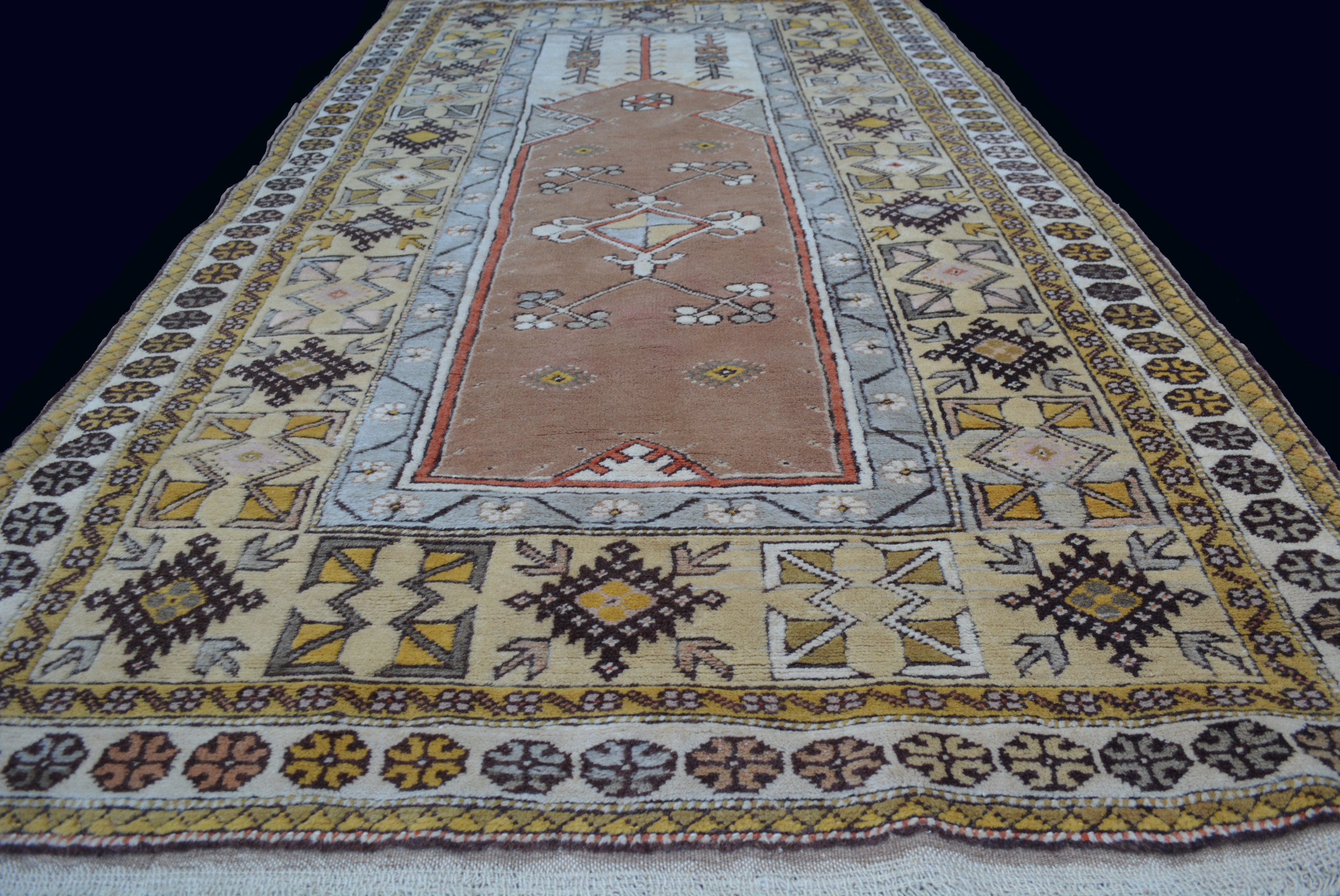 antik melas orient teppich anatolien wolle 220x120cm rug tapis tappeto alfombra ebay. Black Bedroom Furniture Sets. Home Design Ideas