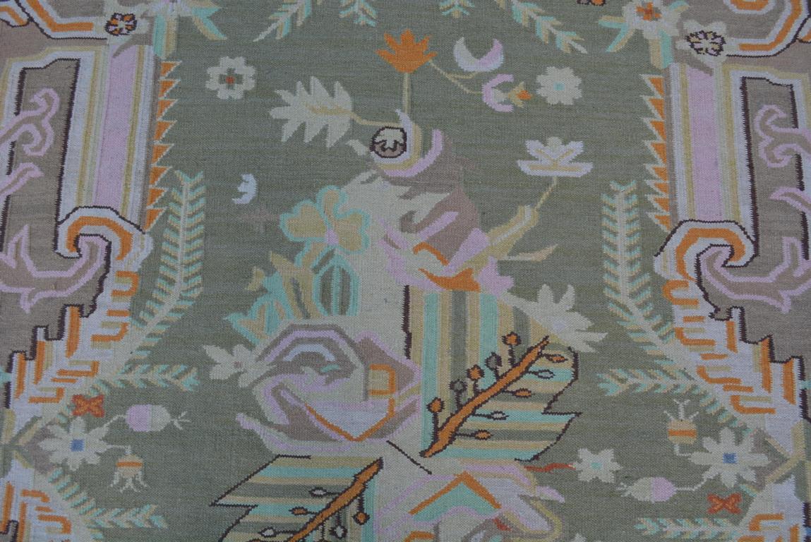 Design Kelim Teppich 238x156 Pastell-Farben Handarbeit ...