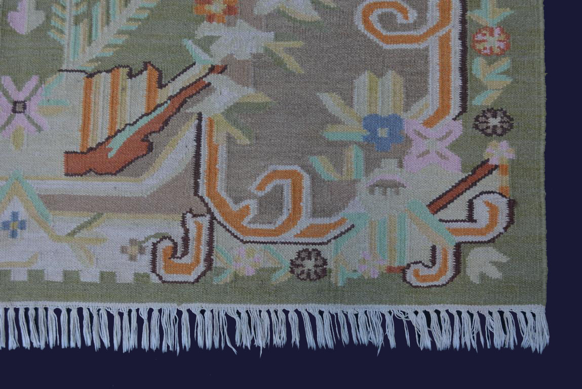 Design Kelim Teppich 238×156 PastellFarben Handarbeit