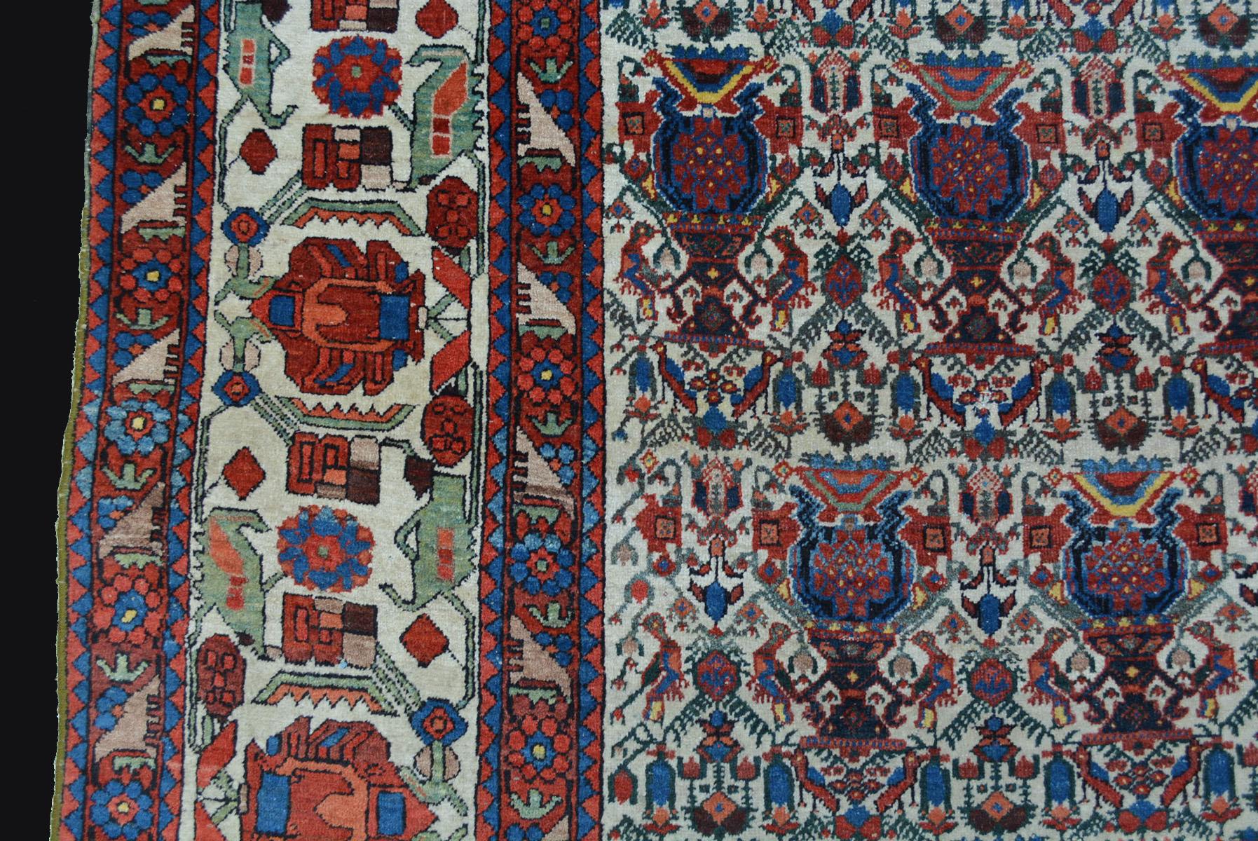 semi antik afschar teppich 300x197cm orientteppich rug tapis tappeto alfombra ebay. Black Bedroom Furniture Sets. Home Design Ideas