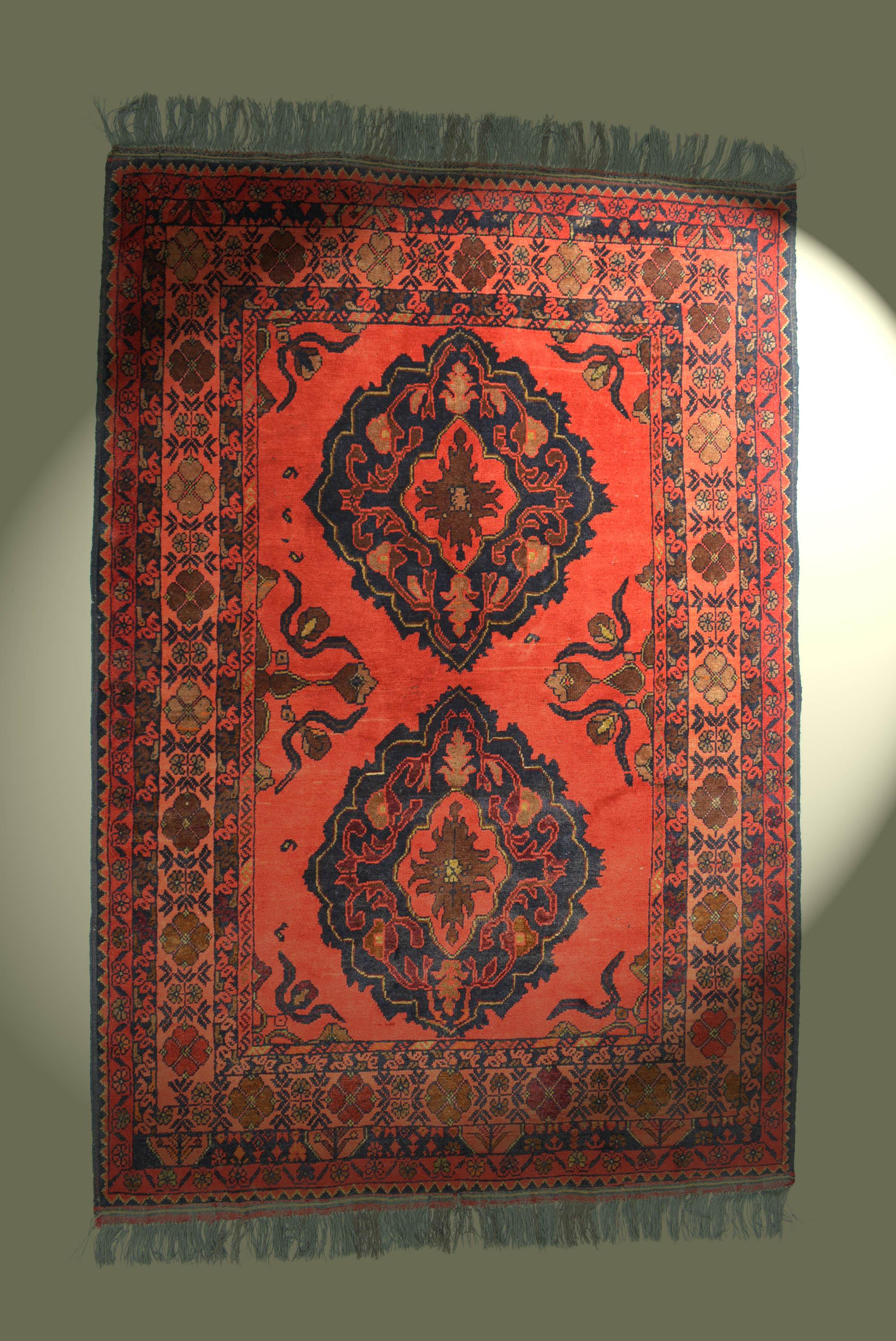 Teppich Naturfarben 100% Wolle 152x102cm braun