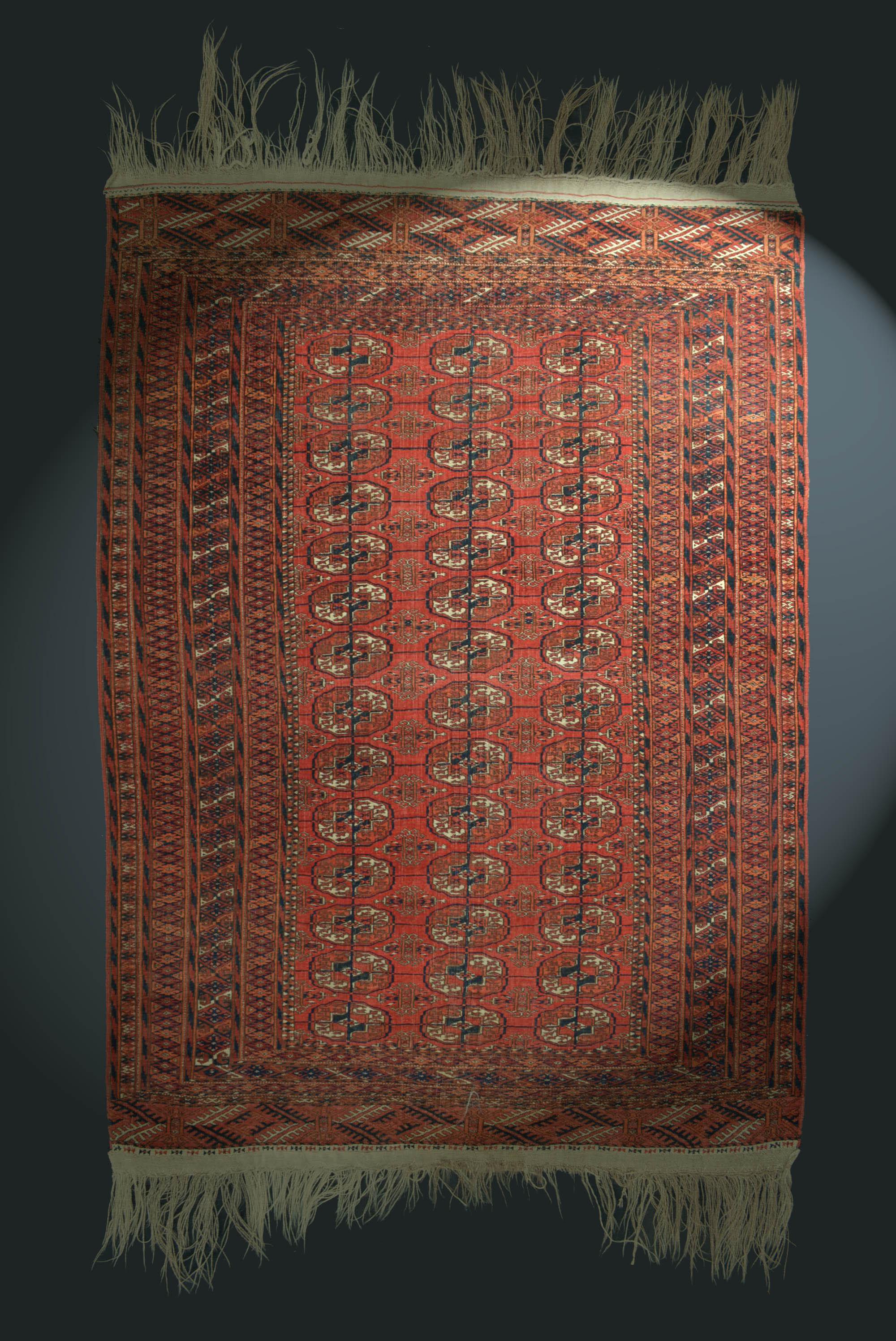 antik buchara teppich turkmenistan 170x124cm feiner tekke rug tapis tappeto ebay. Black Bedroom Furniture Sets. Home Design Ideas