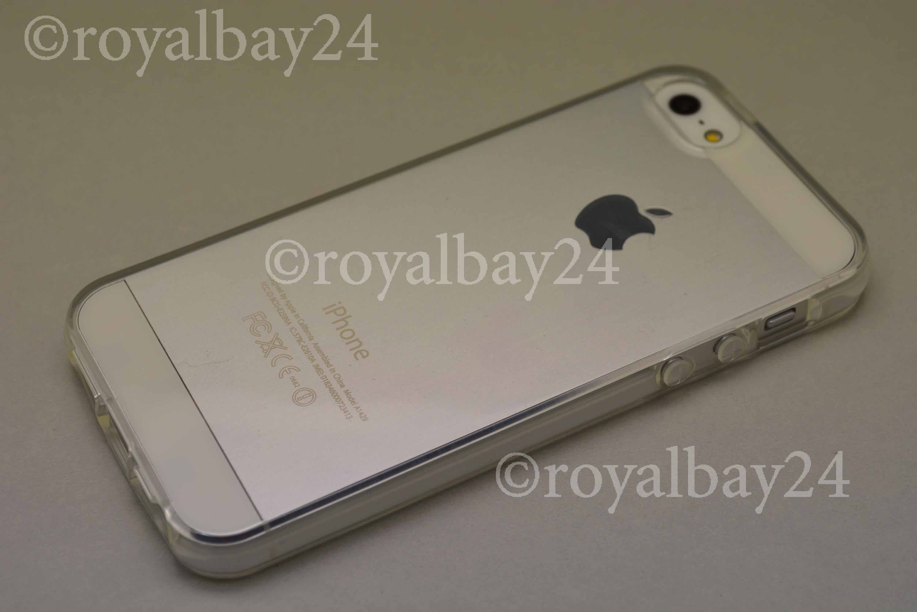 apple iphone 5s silikon bumper transparent schutz h lle. Black Bedroom Furniture Sets. Home Design Ideas