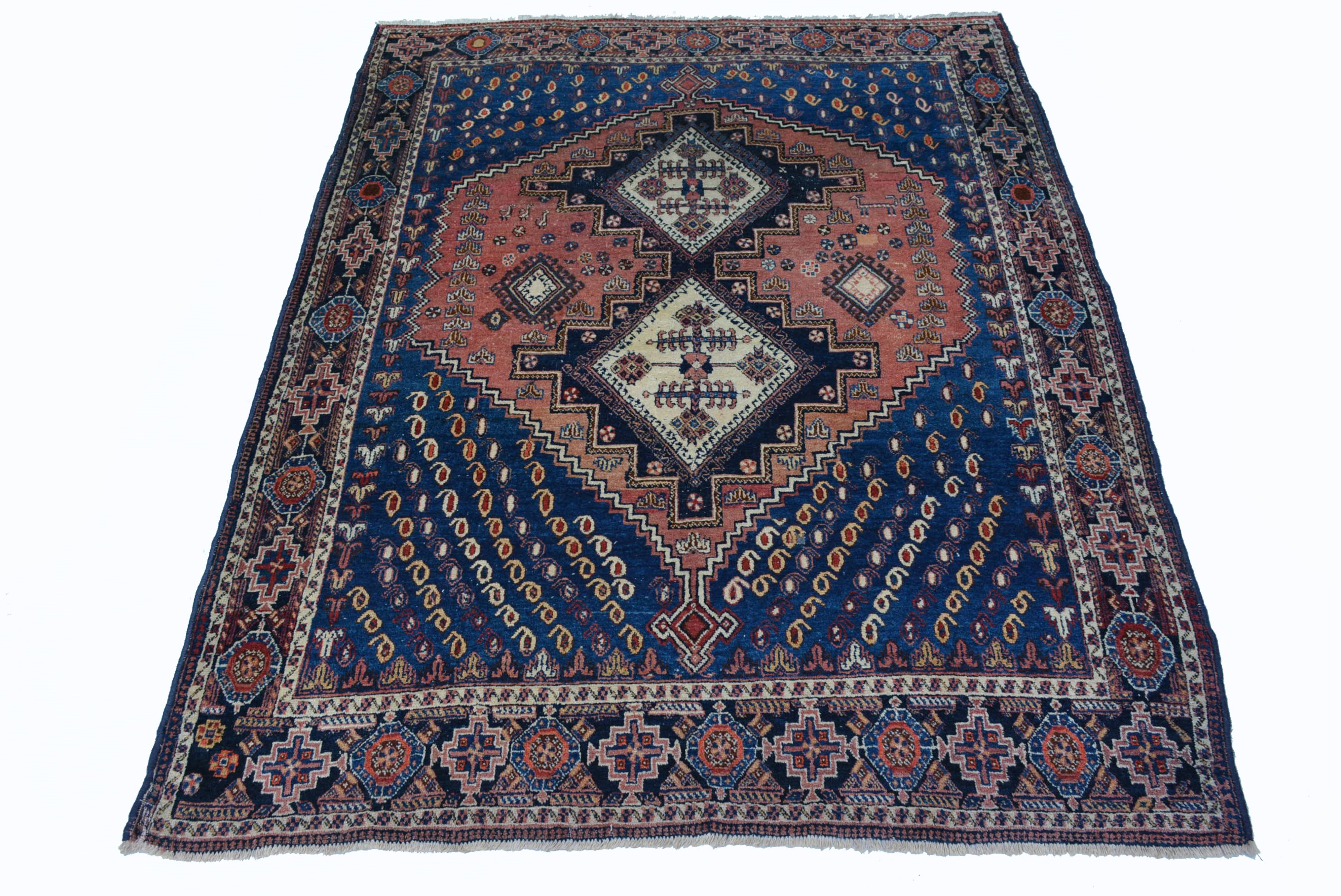 antik afshar orient teppich fein wolle 173x134 cm rug tappeto tapis alfombra ebay. Black Bedroom Furniture Sets. Home Design Ideas