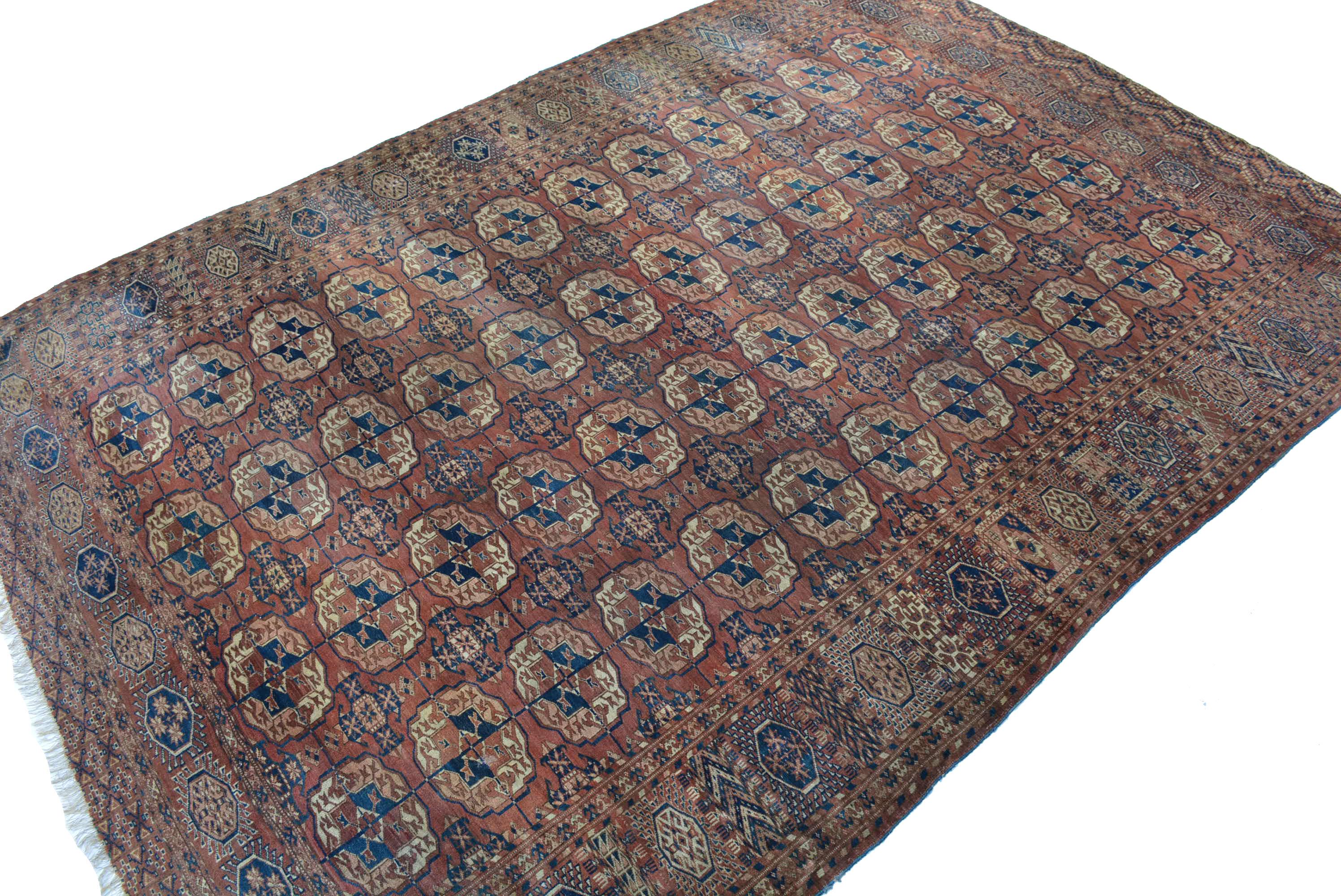 antik buchara teppich turkmenistan 19 jh hauptteppich 325x225 tekke main carpet ebay. Black Bedroom Furniture Sets. Home Design Ideas