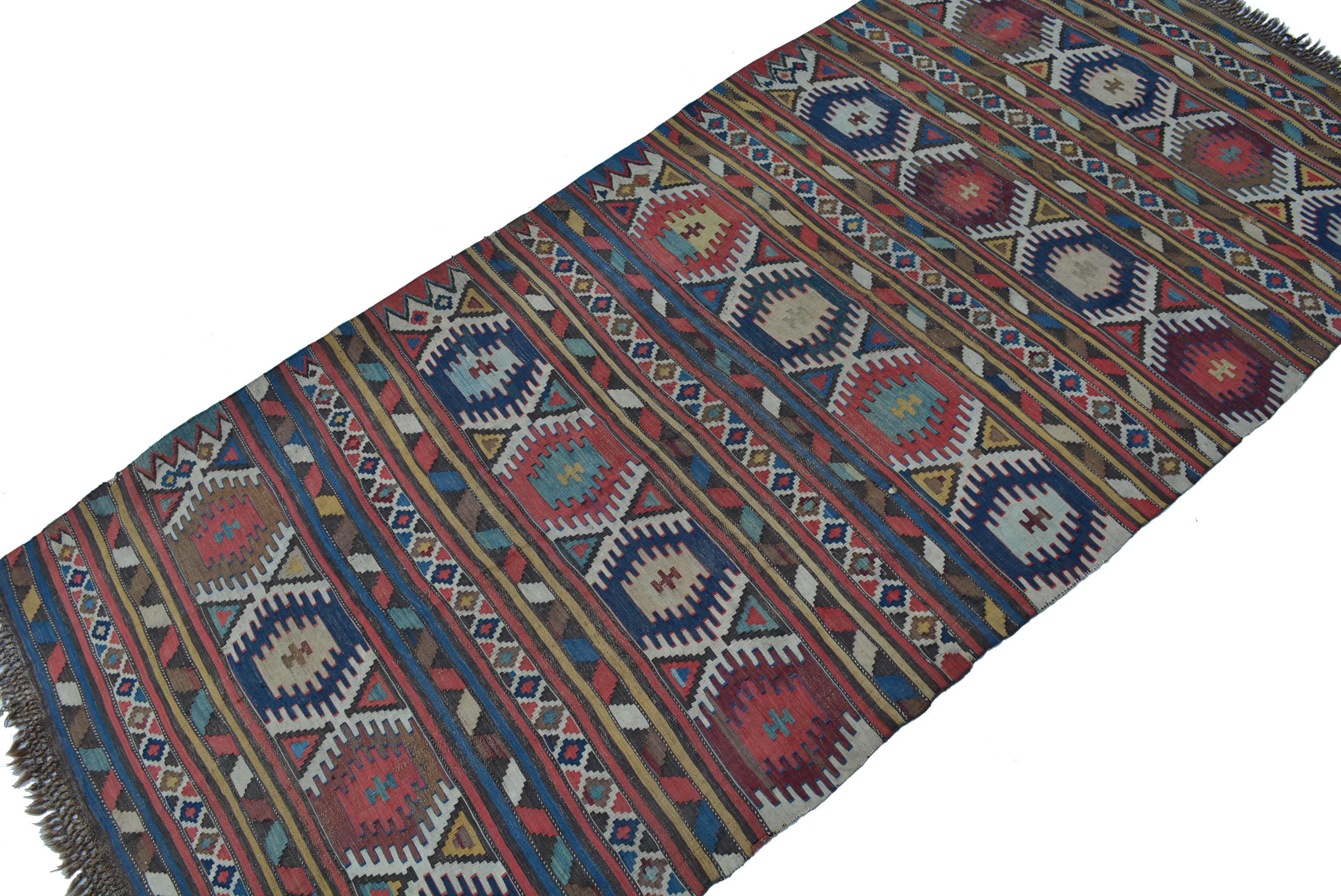 antik kaukasus kelim teppich wolle gewebt 290x134 kazak kilim rug tappeto tapis ebay. Black Bedroom Furniture Sets. Home Design Ideas